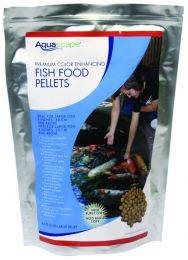 Aquascape Premium Color Enhancing Fish Food Pellets - Medium Pellets - (1) 1 kg Bags